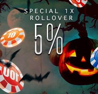 5% Deposit Bonus X1 Rollover